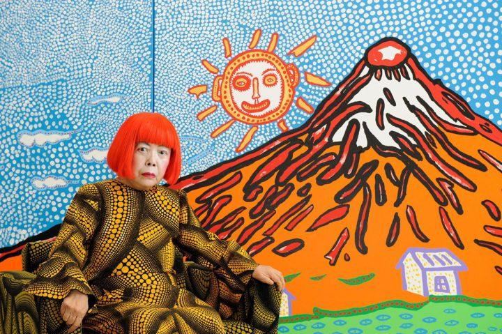 Kusama Yayoi<br>iwspółczesna sztuka Japonii<br>wykład Pawła Pachciarka<br>9 sierpnia 2019