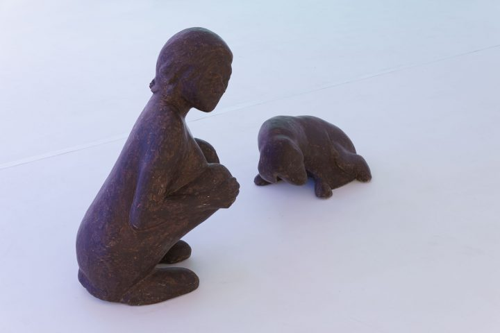 "Agata Zbylut ""Crouched Down"", sculptures, 2004<br/>photo: Andrzej Golc"