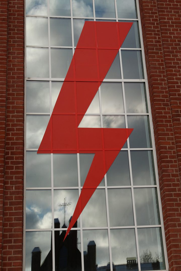 Lightening of freedom on TRAFO façade