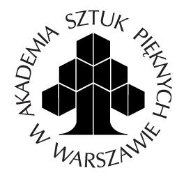 Logo: Akademia Sztuk Pięknych wWarszawie